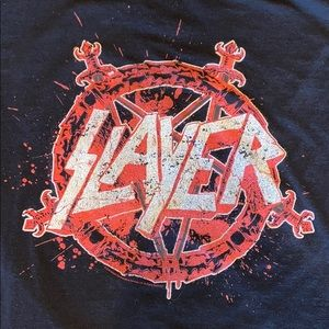 SLAYER Band Concert Distressed Tee Heavy Metal L